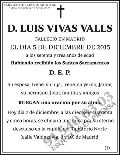 Luis Vivas Valls